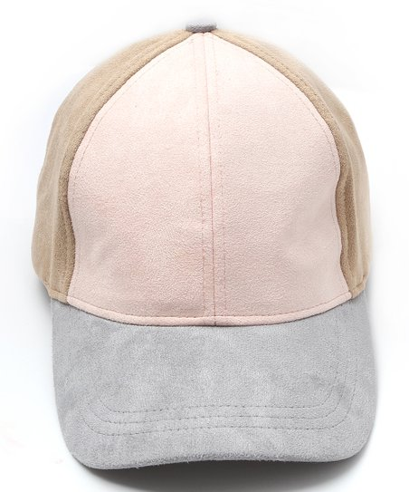 db6f47c622c Steve Madden Blush Color Block Suede Baseball Cap