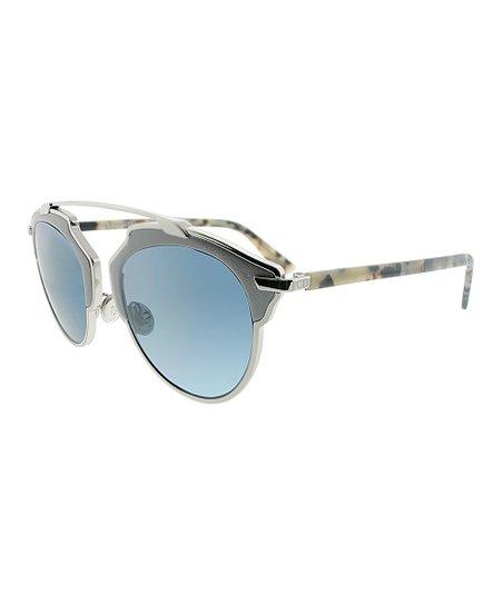 896cacf472867 Dior Gray   Blue Gradient Bridgeless Browline Sunglasses