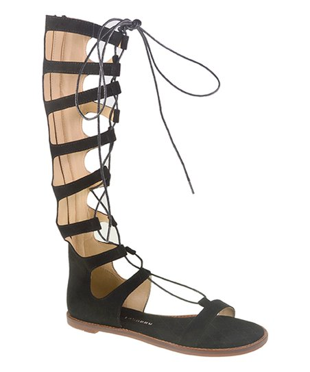bb35646fc3 Chinese Laundry Black Galactic Knee-High Gladiator Sandal