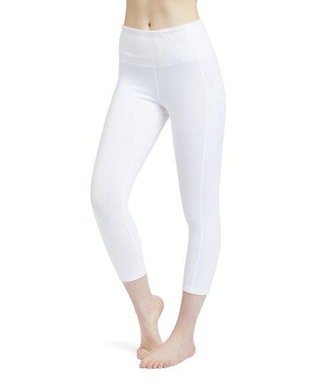 4017a0791def60 love this product White Pocket Capri Leggings - Women