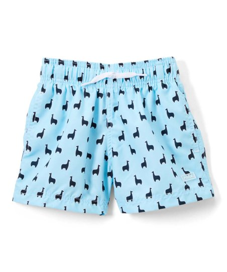 Azul Swimwear Light Blue Llama Swim Trunks - Toddler   Boys  f81031fff4