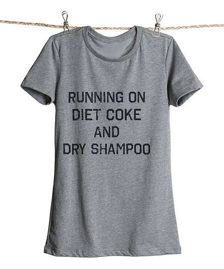 f3072418 Thread Tank Heather Gray Diet Coke and Dry Shampoo Tee - Plus Too ...