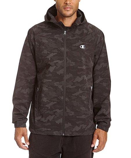 165f3efdf67de love this product Reflective Camo Hooded Rain Shell Jacket - Men's Regular  & Tall