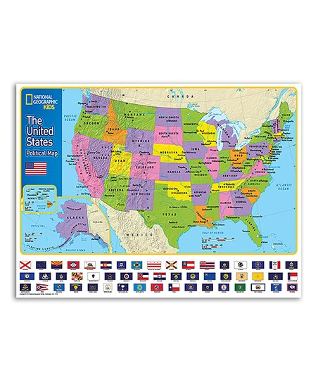 New York Puzzle Company National Geographic Usa Kids Map Zulily