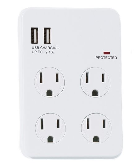 Gabba Goods Dual USB Port Four-Outlet Surge Protector  6bbb7bc2e