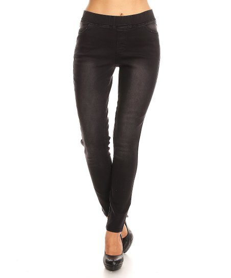 fe7dfb28984aa love this product Faded Black Wash High-Waist Denim Jeggings - Women