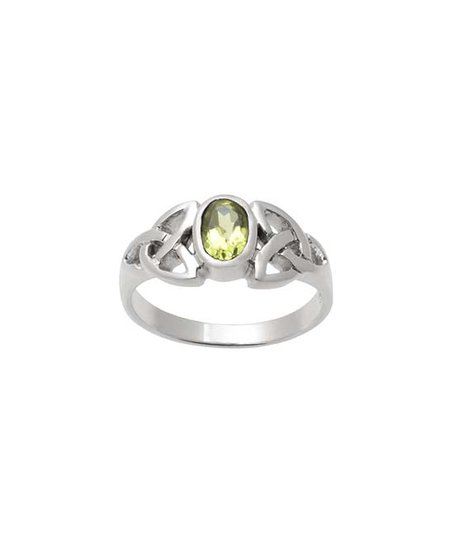 Tressa Collection Peridot & Sterling Silver Celtic Trinity Knot 8 8-mm Ring