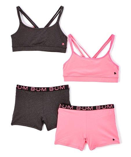 40706af70fc91 B.U.M. Equipment Black   Hot Pink Crisscross Sports Bra   Underwear ...