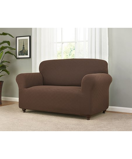 Astonishing Madison Industries Brown Checkerboard Stretch Furniture Slipcover Spiritservingveterans Wood Chair Design Ideas Spiritservingveteransorg