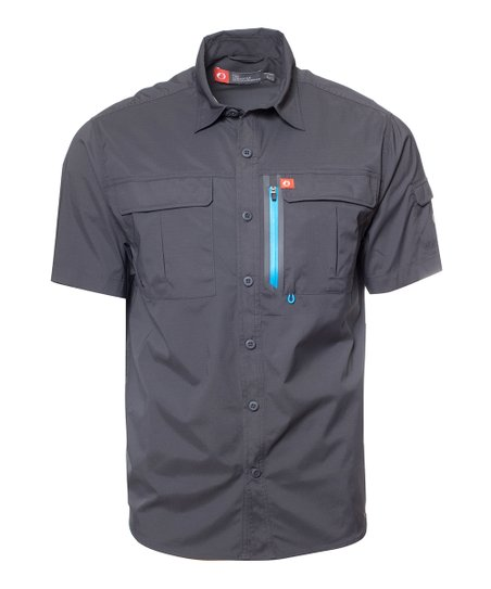 853d4a27 love this product Raven Short-Sleeve Blackfoot River Ultimate Fishing  Button-Up - Men