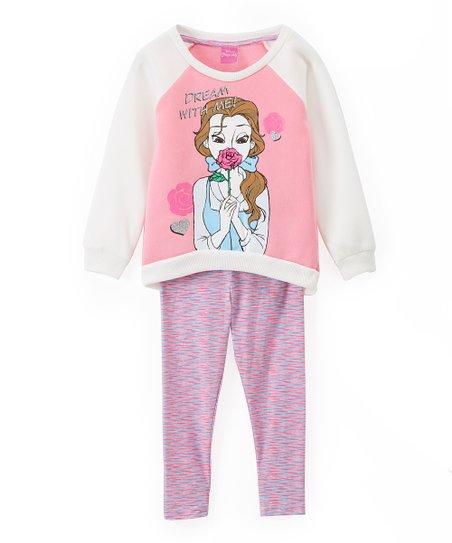 565e6d0ee23d5 love this product Disney Princess Belle Pink 'Dream' Sweatshirt & Leggings  - Girls