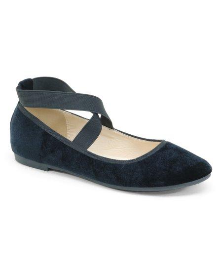Black Ankle-Strap Ballet Flat - Women