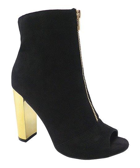 love this product Black   Gold Morris Peep-Toe Bootie - Women 16e2aa3ed