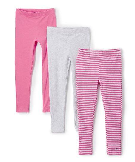 3dc587546bb02b Limited Too Dark Pink & Light Pink Leggings Set - Toddler | Zulily