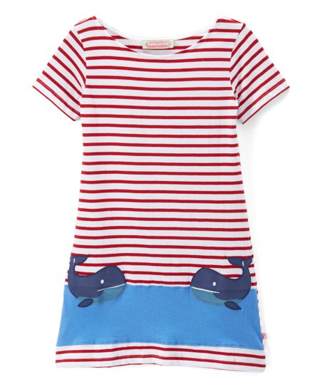 32294c86a love this product Red   White Whale Boatneck Dress - Infant