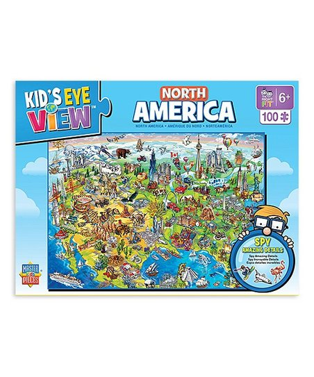 Masterpieces 100 Piece North America Map Puzzle Zulily