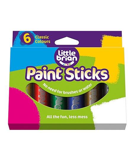 Little Brian & I-Silicone Little Brian Six-Piece Classic Colors Paint  Sticks Set