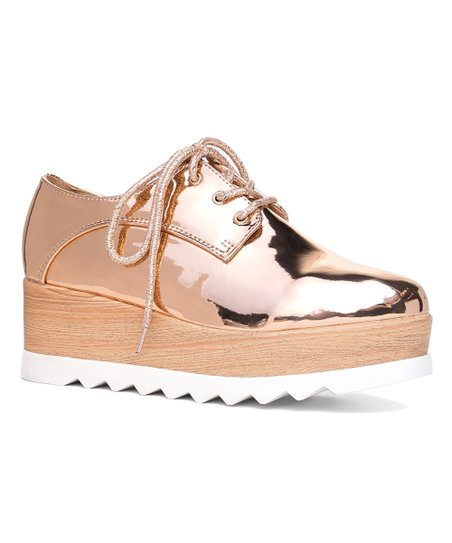64db1842b0e0 love this product Rose Gold Patent Elevate Platform Oxford