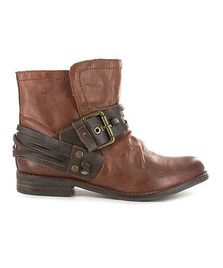 14f9c065f7df Chocolat Blu Brown Buckle Rosario Leather Ankle Boot - Women