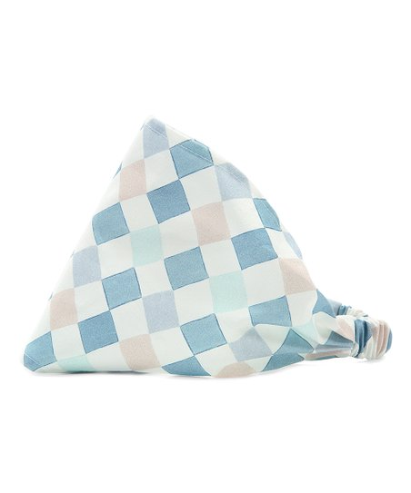 La Millou Blue   White Checkerboard Headband  1a41d4227d7