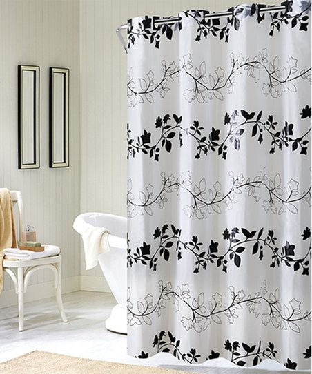 Sure Fit Black White Floral Hookless Shower Curtain Zulily