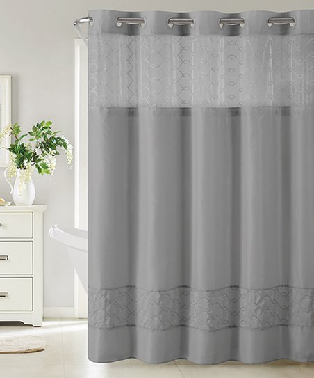 Love This Product Slate Downtown Soho Hookless Shower Curtain