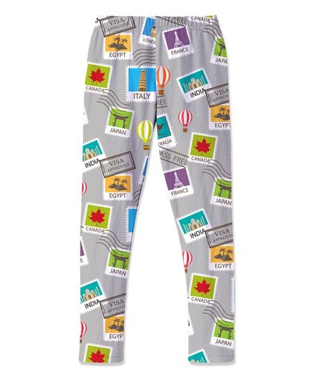 77987056facbe5 love this product Gray Stamp & Hot Air Balloon Leggings - Toddler & Girls