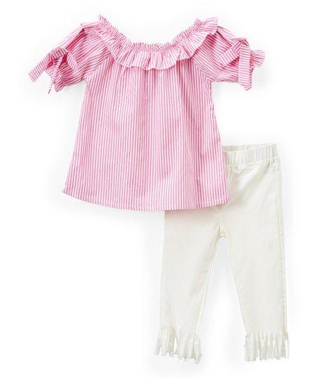 877441d7b Girls Luv Pink Light Pink Tunic & Pants Set - Girls | Zulily