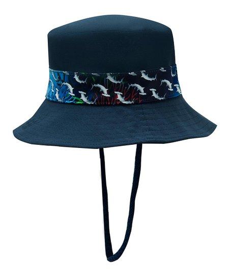 Color Fingers Blue Shark UPF 50+ Bucket Hat  fd26d841f7b