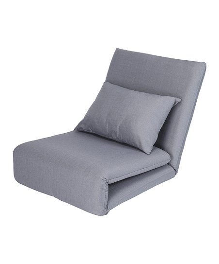 Gray Relaxie Flip Chair/Bed  sc 1 st  Zulily & Inspired Home Gray Relaxie Flip Chair/Bed | Zulily