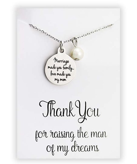 Designs by KaraMarie Sterling Silver Mother-in-Law Pendant Necklace & Quote  Card