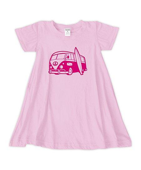 199f3a299ae1 Light Pink Surf Van T-Shirt Dress - Toddler   Girls