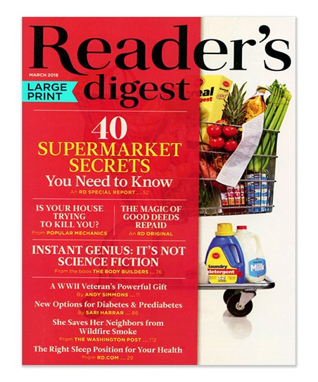 mailbox must-haves readers digest large print magazine subscription ...