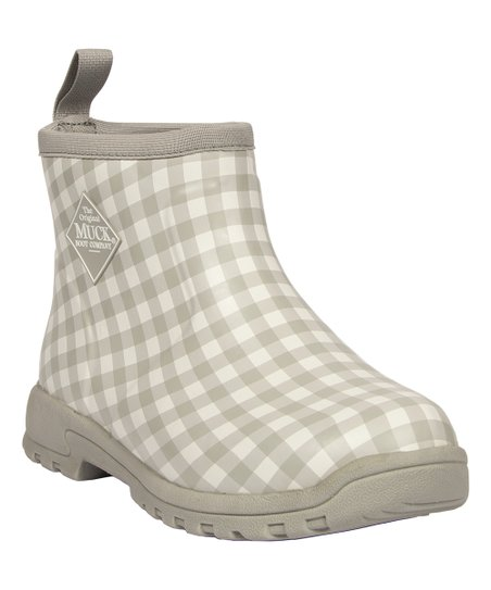 7286566aa7dd08 The Original Muck Boot Company Gray Gingham Waterproof Breezy Ankle ...