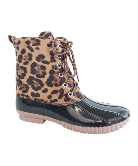 22a0517daca0 love this product Black Leopard Dylan Duck Boot - Women