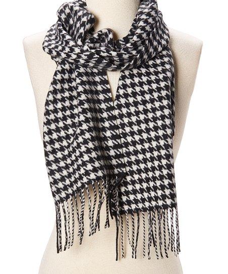 fabf9b22f2fd6 love this product Black & White Herringbone Wool-Cashmere Blend Scarf -  Women