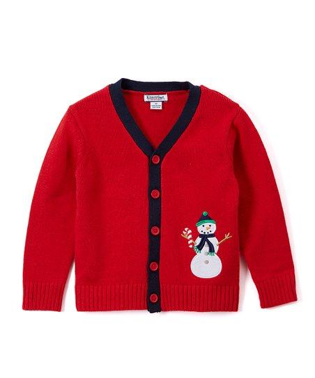 a846bd5fe737 Red Snowman Cardigan - Boys
