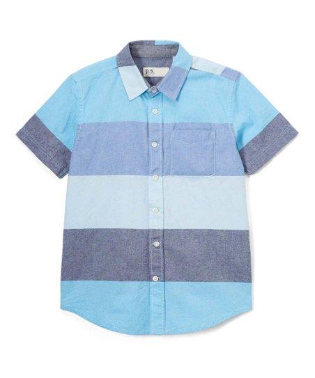 7e0db1825ad47 p.s. from Aéropostale Blue Stripe Oxford Shirt - Boys