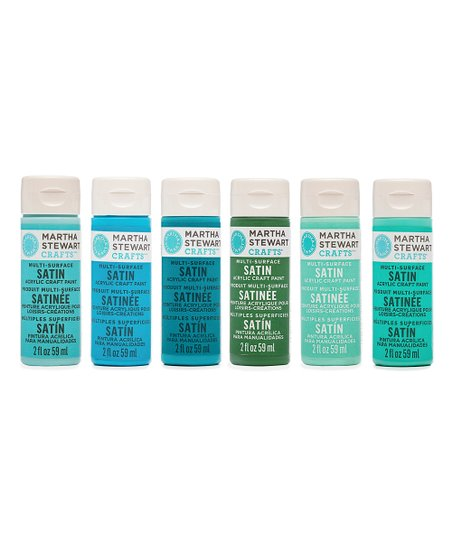 Martha Stewart Crafts 6 Ct Cool Colors 2 Oz Acrylic Paint Set