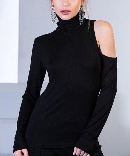 41962cca7b27 love this product Black Asymmetrical-Cutout Top - Women