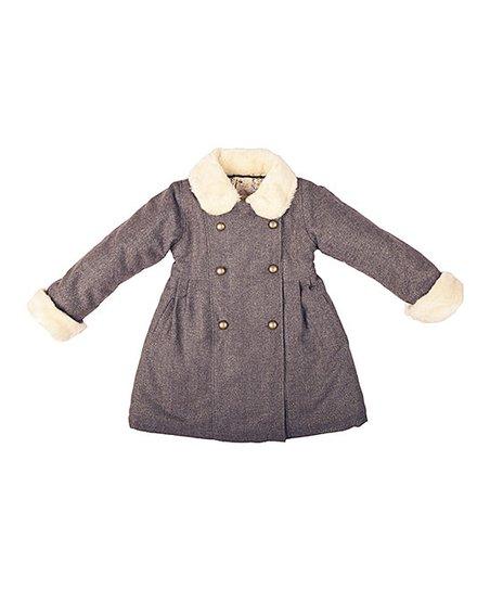 5195906da La faute à Voltaire Brown Tweed Anoushka Coat - Toddler & Girls | Zulily