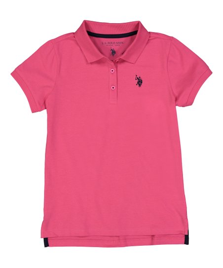 ea78e31b U.S. Polo Assn. Medium Pink Polo - Toddler | Zulily