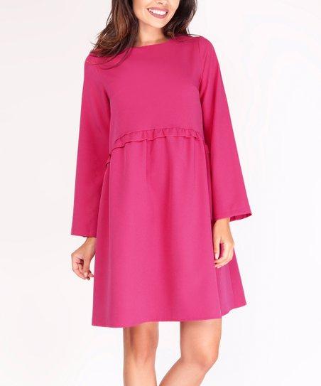 96f24f7abce0f love this product Pink Ruffle Babydoll Dress - Women
