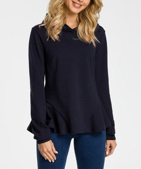 d1b830debbf love this product Navy Blue Hoodie - Women