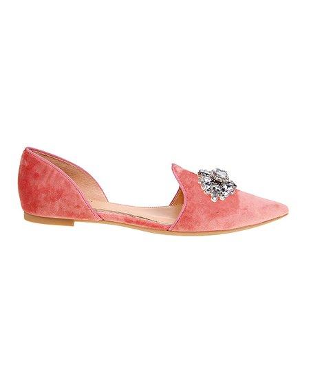 Pale Pink Lemon Velvet D Orsay Flat Women
