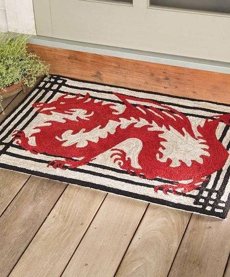 Plow Hearth Red Dragon Indoor Outdoor Rug Zulily