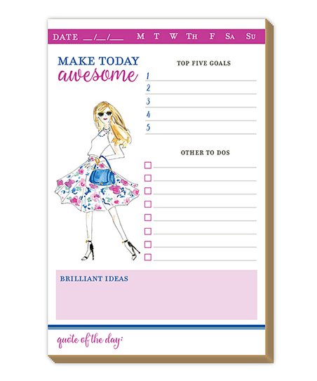 rosannebeck make today awesome daily planner zulily