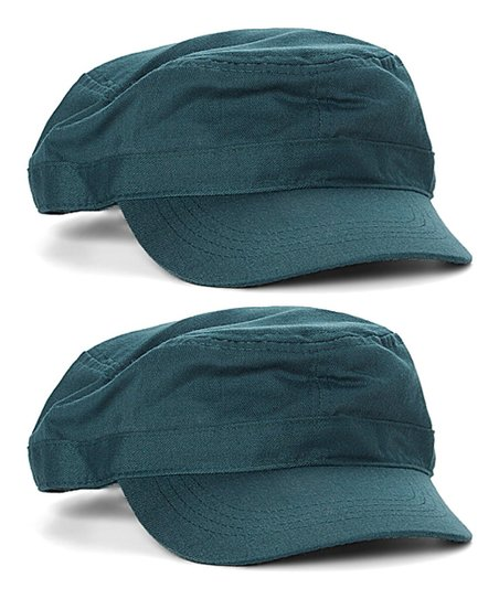 Mark Richards Forest Green Cadet Cap - Set of Two