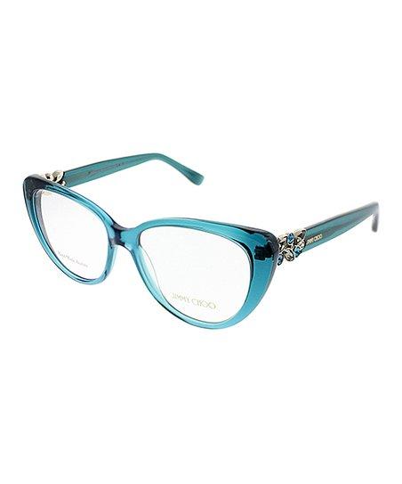 29b5035329 JIMMY CHOO Light Blue Gemstone Butterfly Eyeglasses
