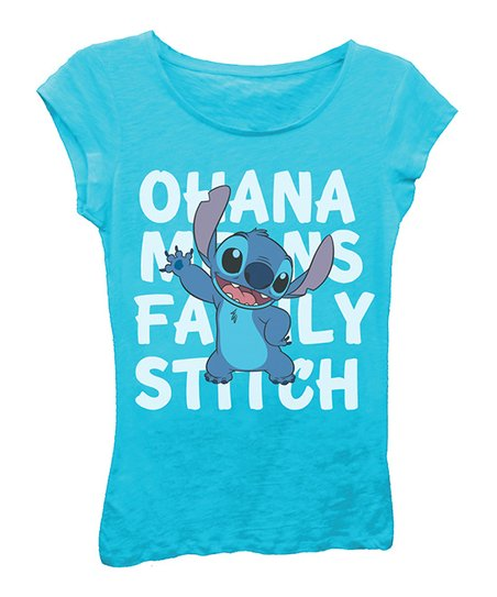 889044e9 love this product Lilo & Stitch 'Ohana Means Family' Tee - Girls